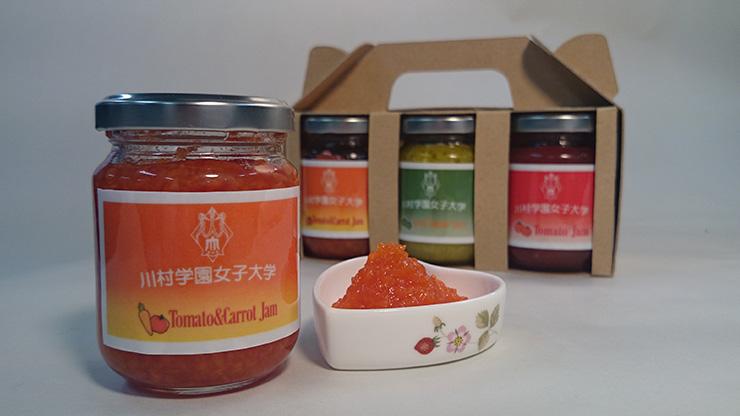 川村学園で作ったトマトジャム